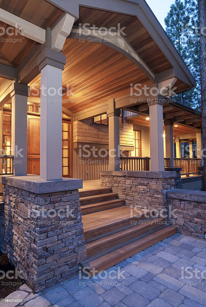 Twilight exterior stock photo