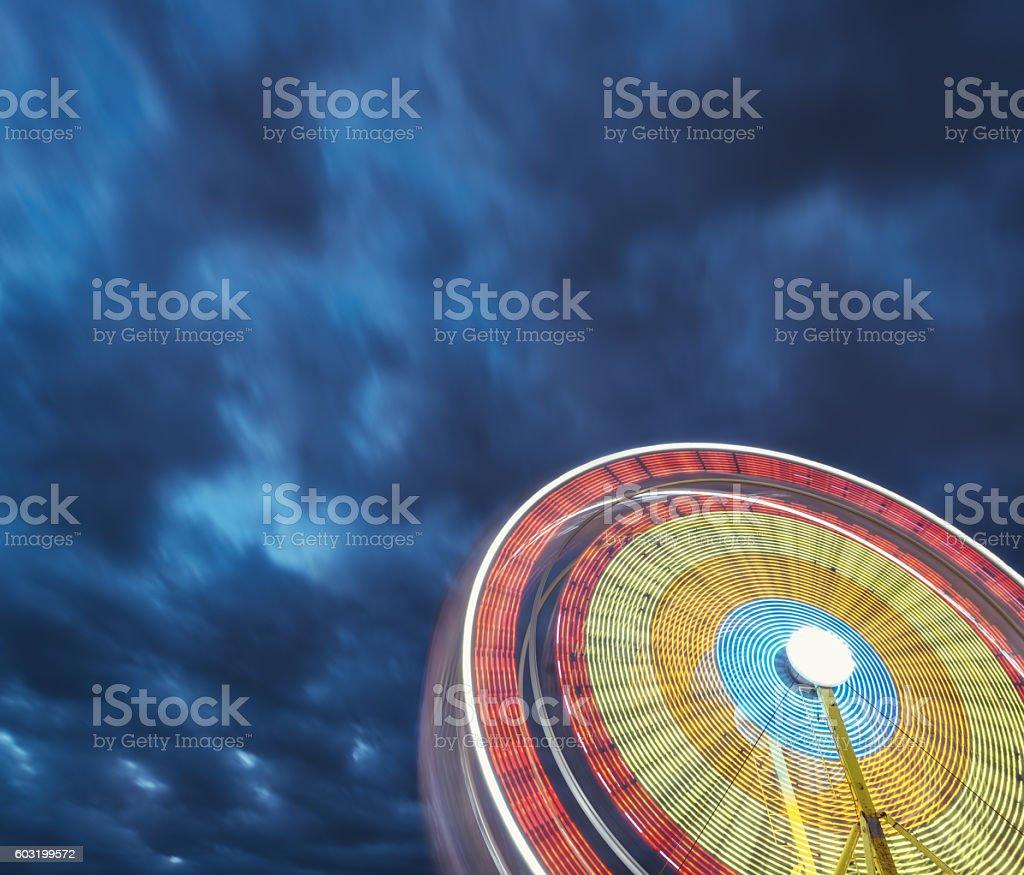 Twilight Ferris Wheel stock photo