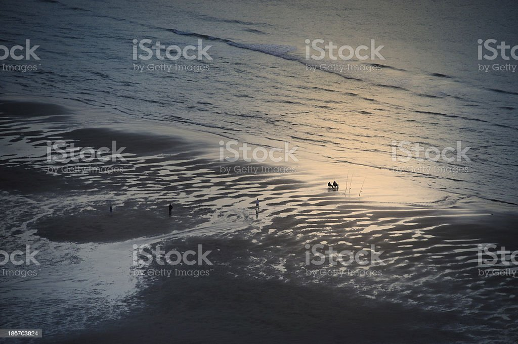 Twilight fishing royalty-free stock photo