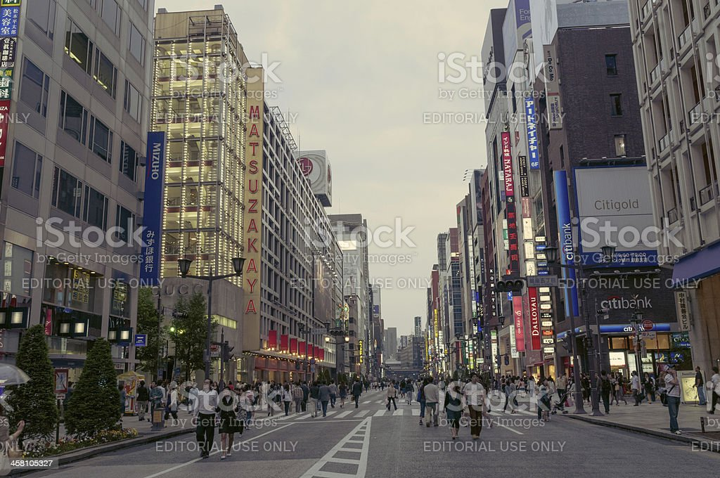 twilight Ginza royalty-free stock photo