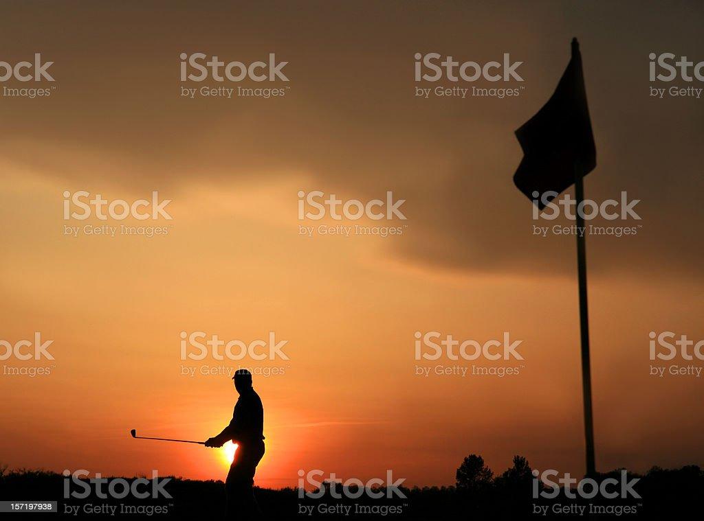 Twilight Golf royalty-free stock photo