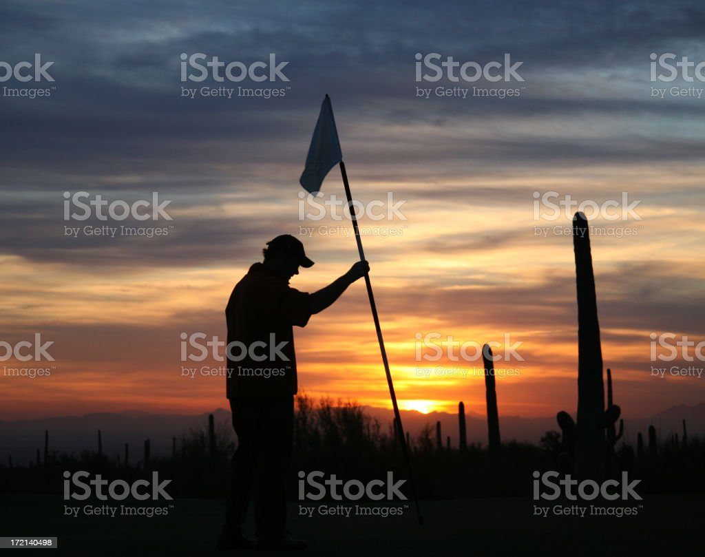 Twilight Golf royalty-free stock photo