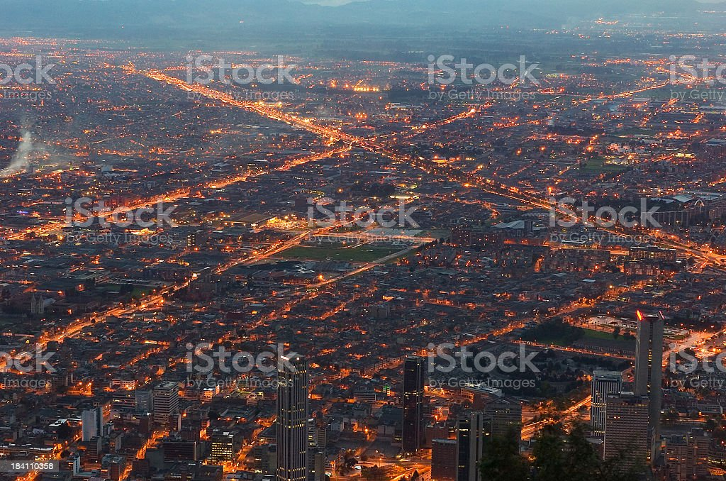 Twilight hour over the city royalty-free stock photo