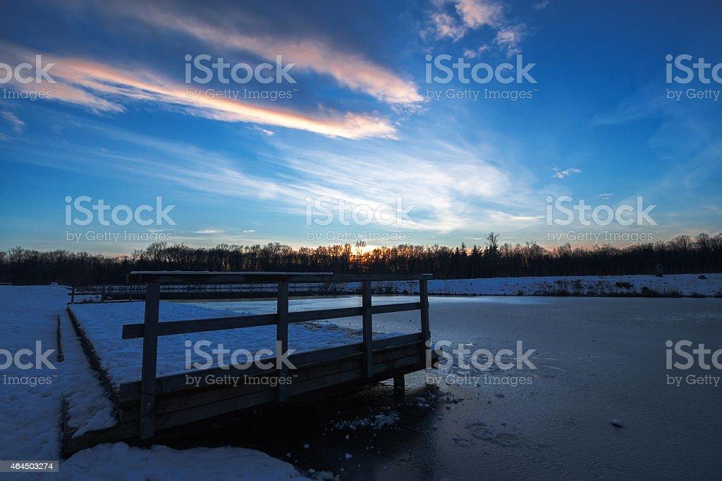 twilight hour stock photo