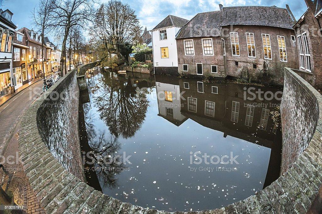 Twilight in Amersfoort stock photo