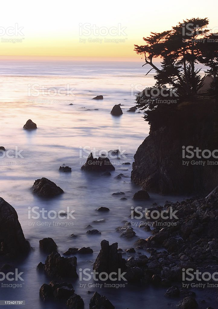 Twilight in Big Sur royalty-free stock photo