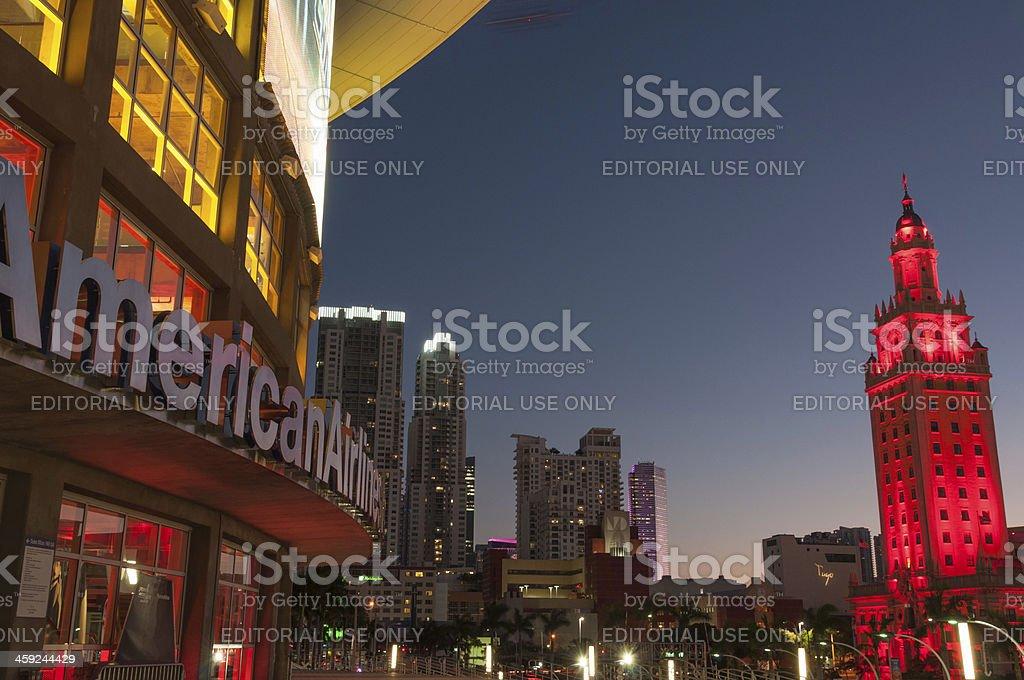 Twilight in Miami stock photo