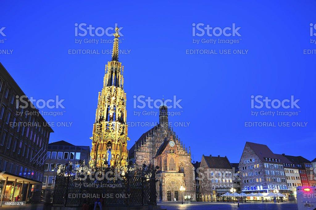 Twilight in Nuremberg, Germany royalty-free stock photo