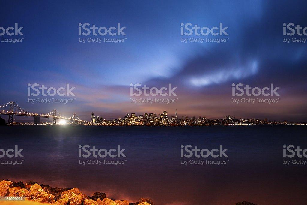 Twilight in San Francisco royalty-free stock photo