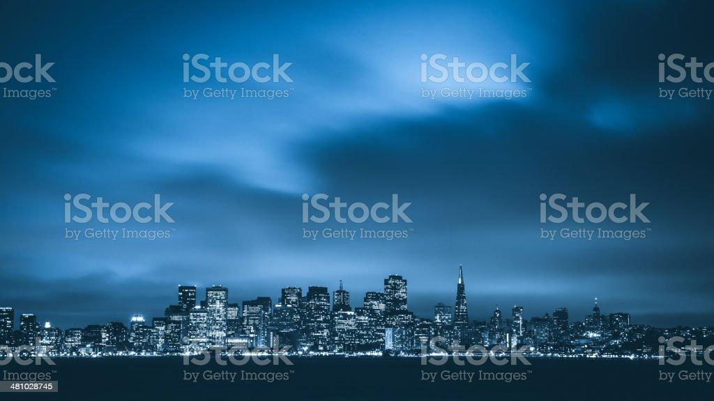 Twilight in San Francisco stock photo