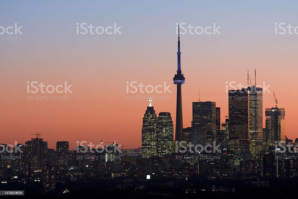 Twilight in Toronto royalty-free stock photo