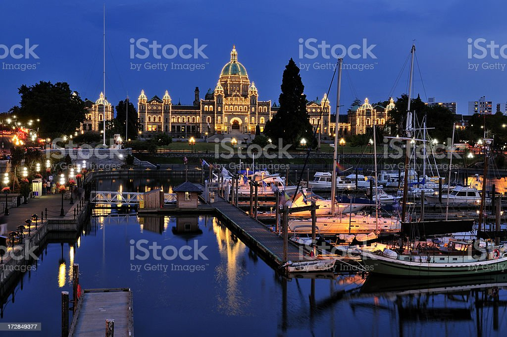 Twilight in Victoria, British Columbia royalty-free stock photo