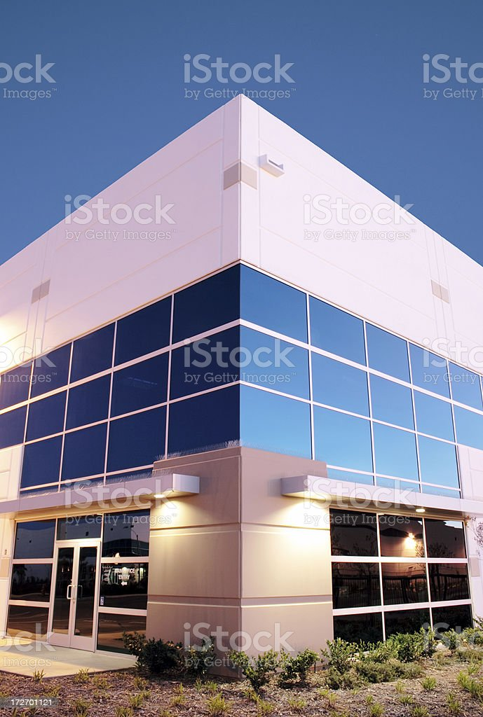 Twilight Industrial Building 3049 royalty-free stock photo