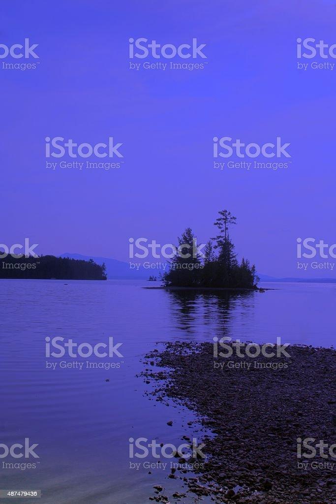 Twilight Island stock photo