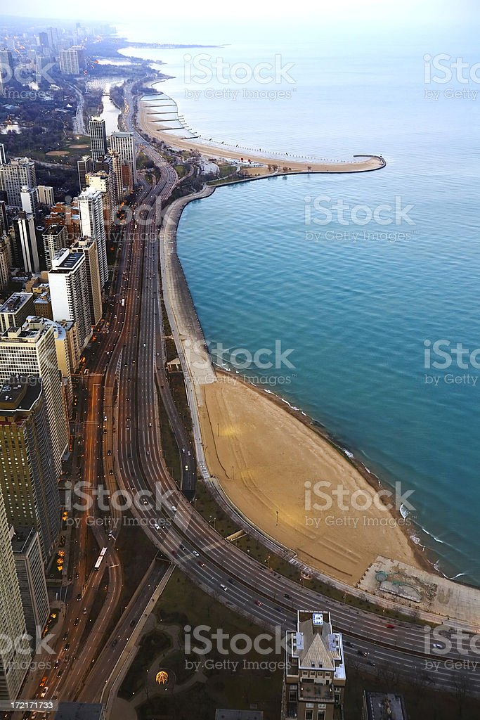 Twilight Lakeshore, Chicago royalty-free stock photo