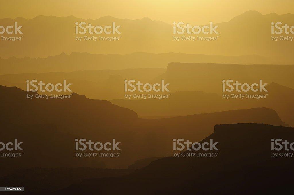 Twilight landscape of Canyonlands National Park, Utah, USA royalty-free stock photo
