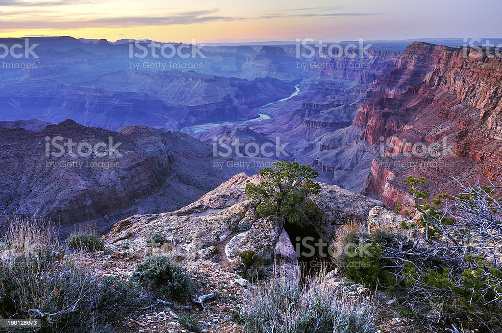 Twilight landscape of Grand Canyon National Park royalty-free stock photo