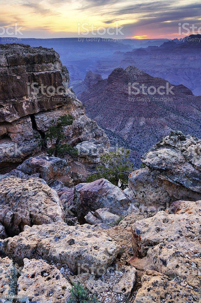 Twilight landscape of Grand Canyon National Park royalty-free stock photo