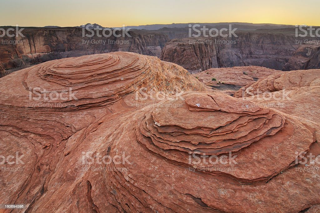 Twilight landscape of Horseshoe Bend, Arizona, USA royalty-free stock photo