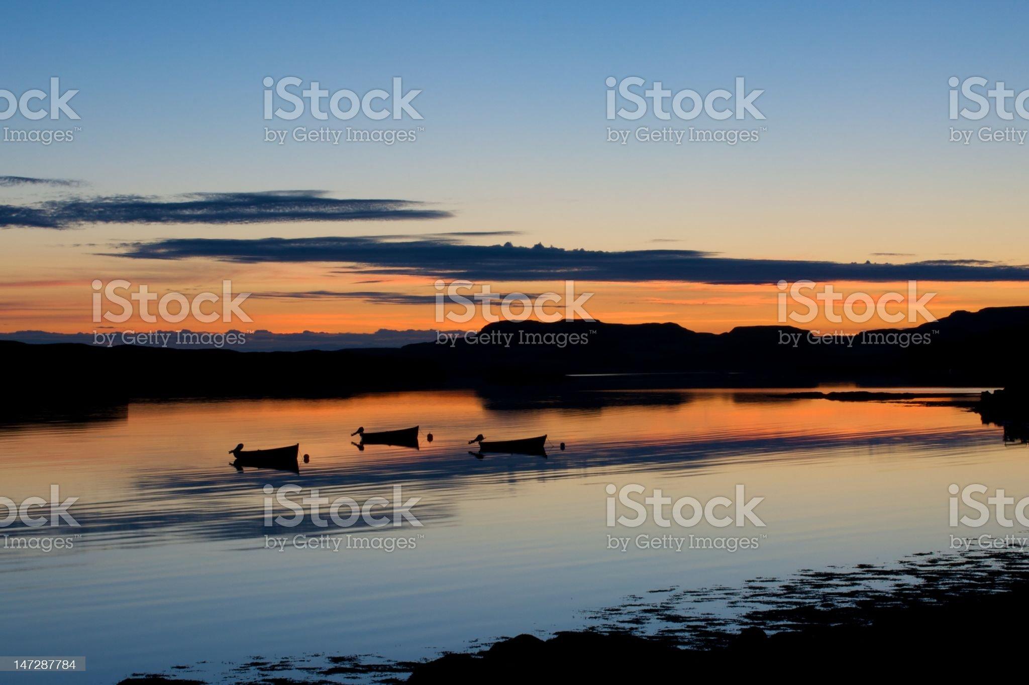 Twilight Loch royalty-free stock photo