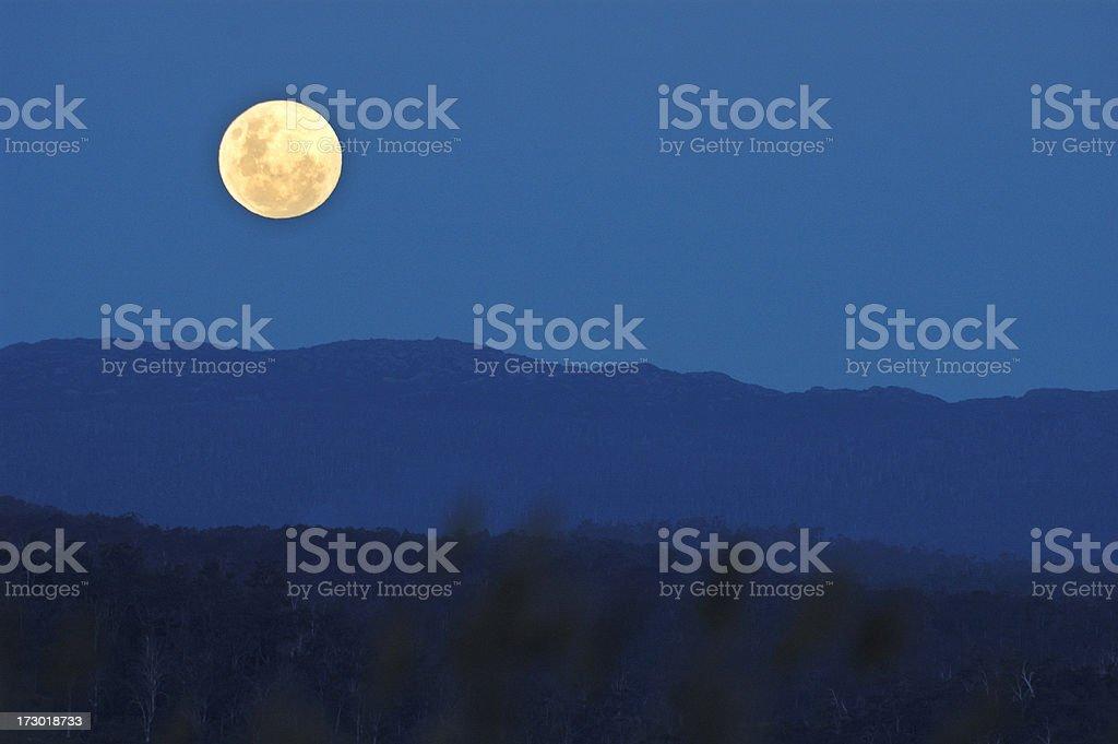 twilight moon stock photo