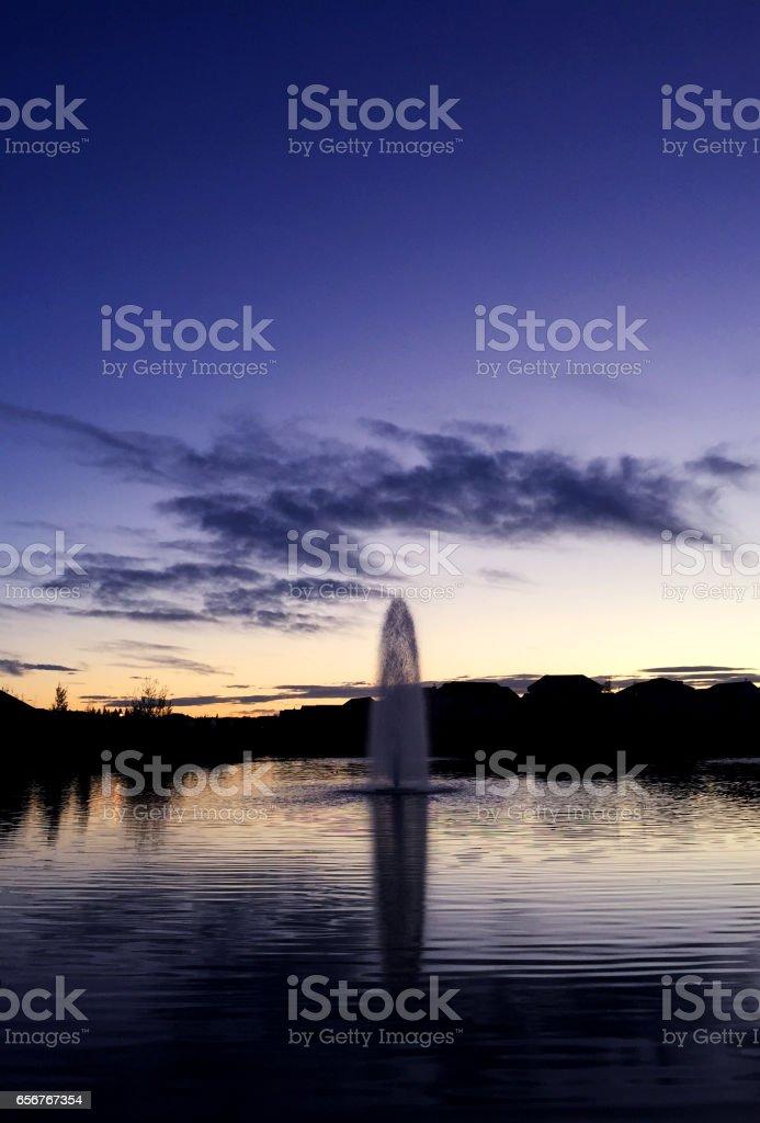 Twilight stock photo