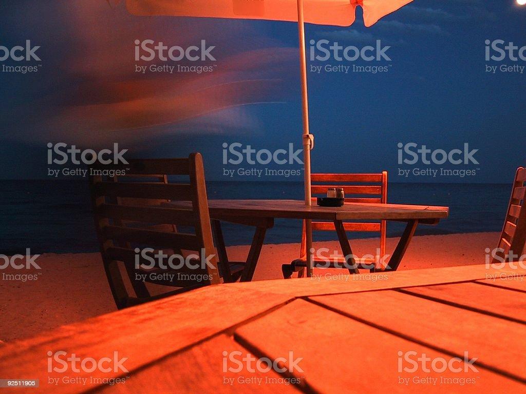 Twilight restaurant royalty-free stock photo