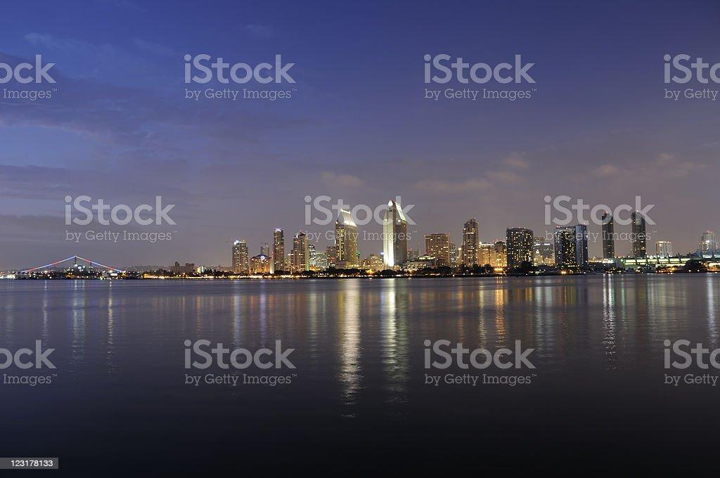 Twilight San Diego Skyline royalty-free stock photo