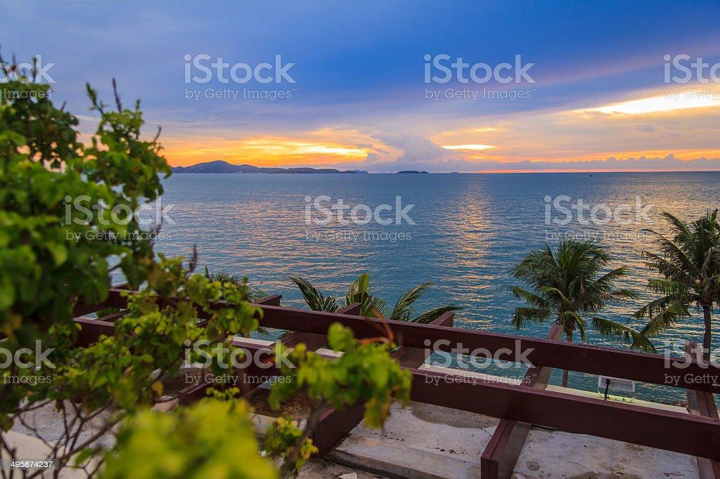 Twilight Sea View royalty-free stock photo