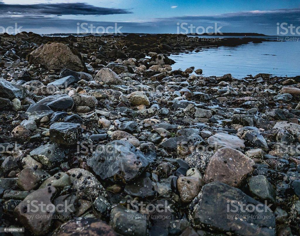 Twilight, Seawall Beach stock photo