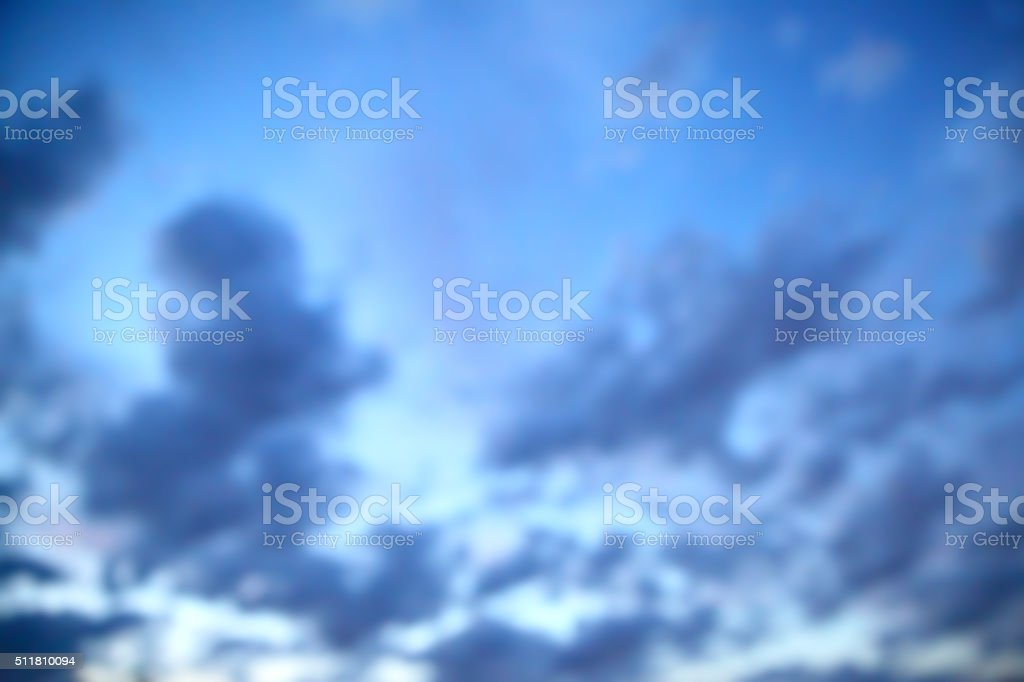 Twilight sky out of focus stock photo