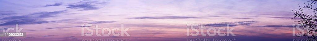Twilight sky panorama royalty-free stock photo