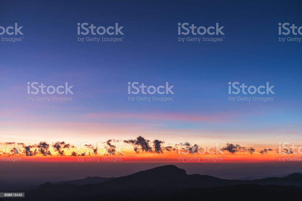 twilight sky stock photo