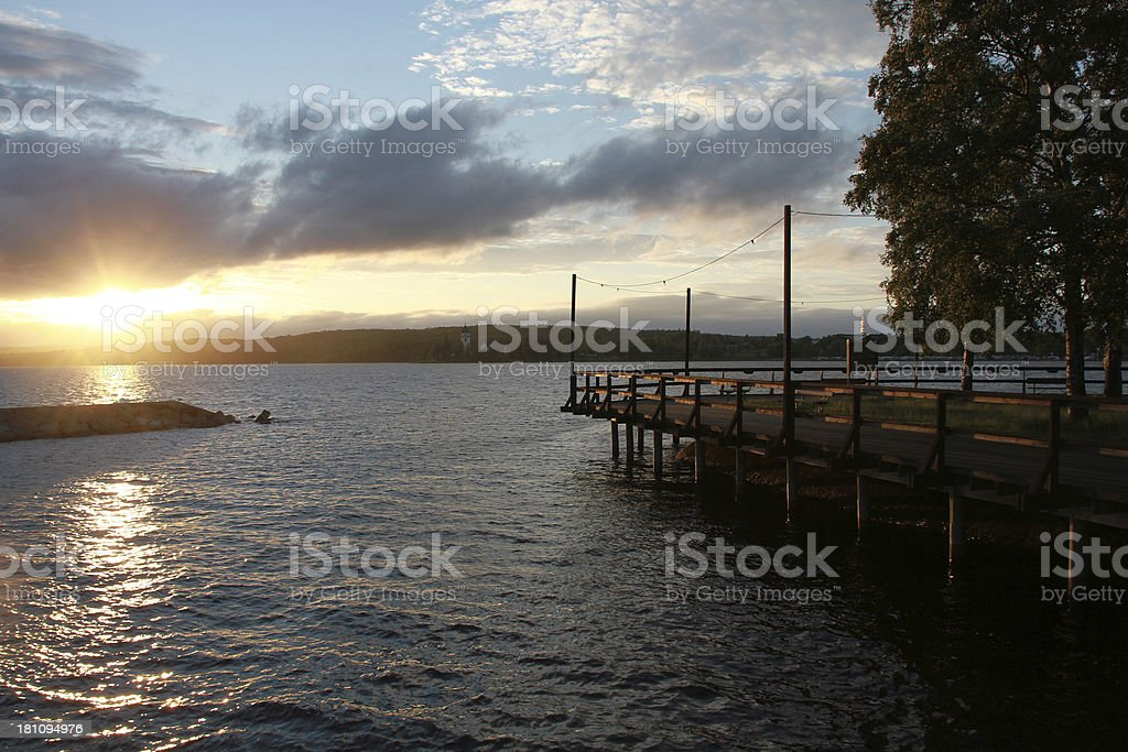 twilight sun royalty-free stock photo