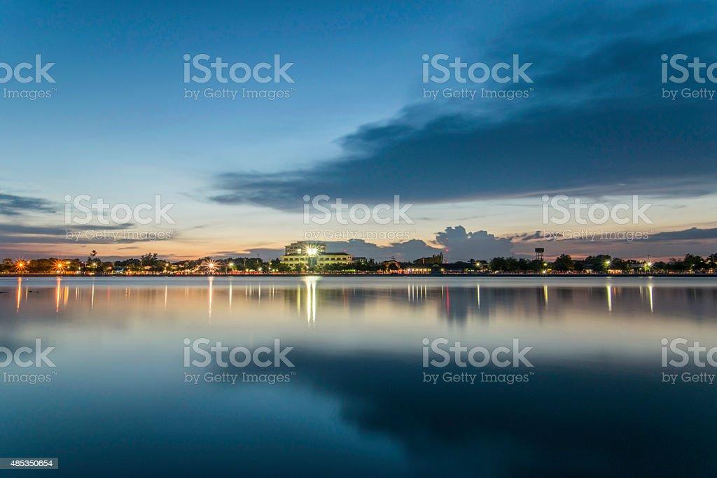 twilight time stock photo