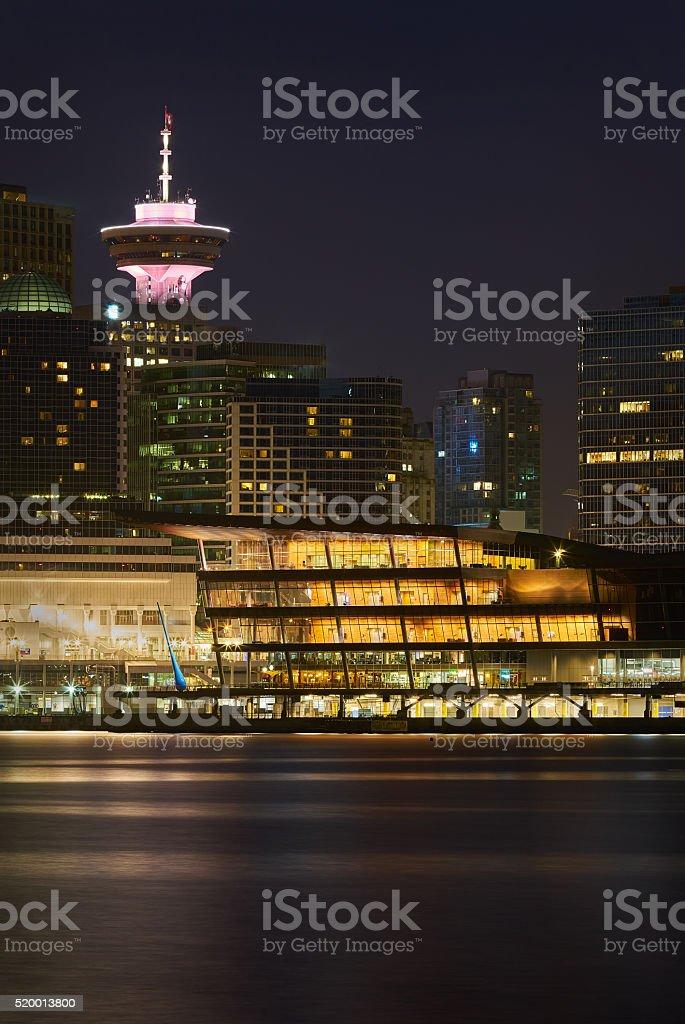Twilight Towers, Vancouver stock photo