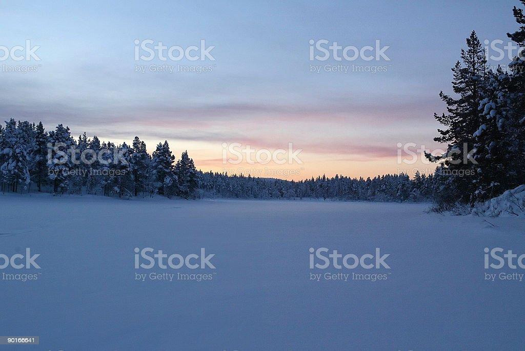 twilight winter landscape royalty-free stock photo