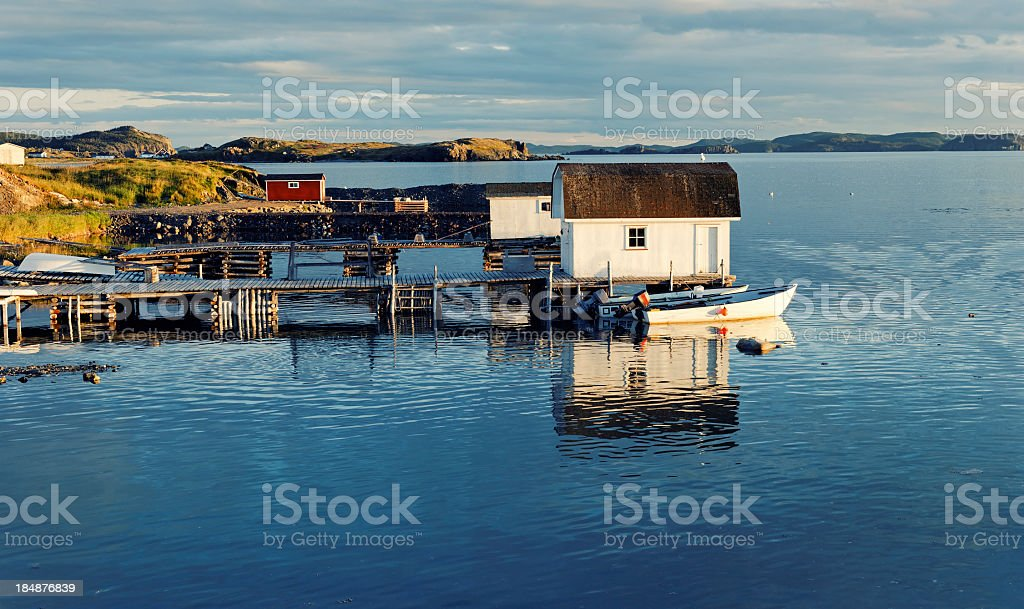 Twillingate harbour, Newfoundland,Canada. stock photo