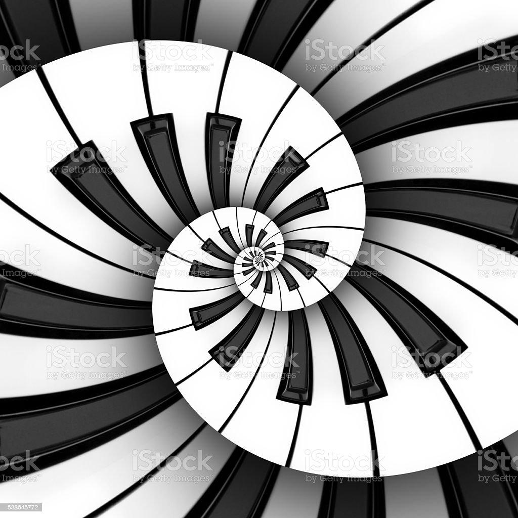 Twin 3D Keyboard Spiral stock photo