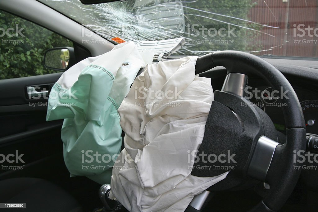 twin airbags royalty-free stock photo