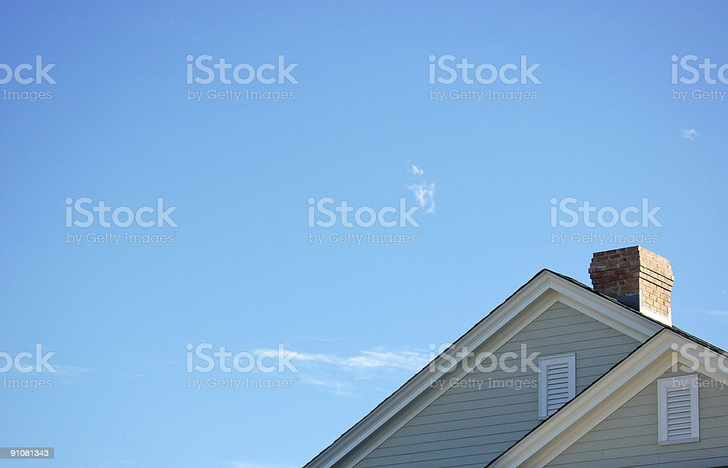 Twin Angled Roofs royalty-free stock photo