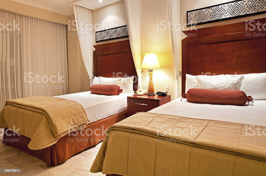 Twin bedroom royalty-free stock photo