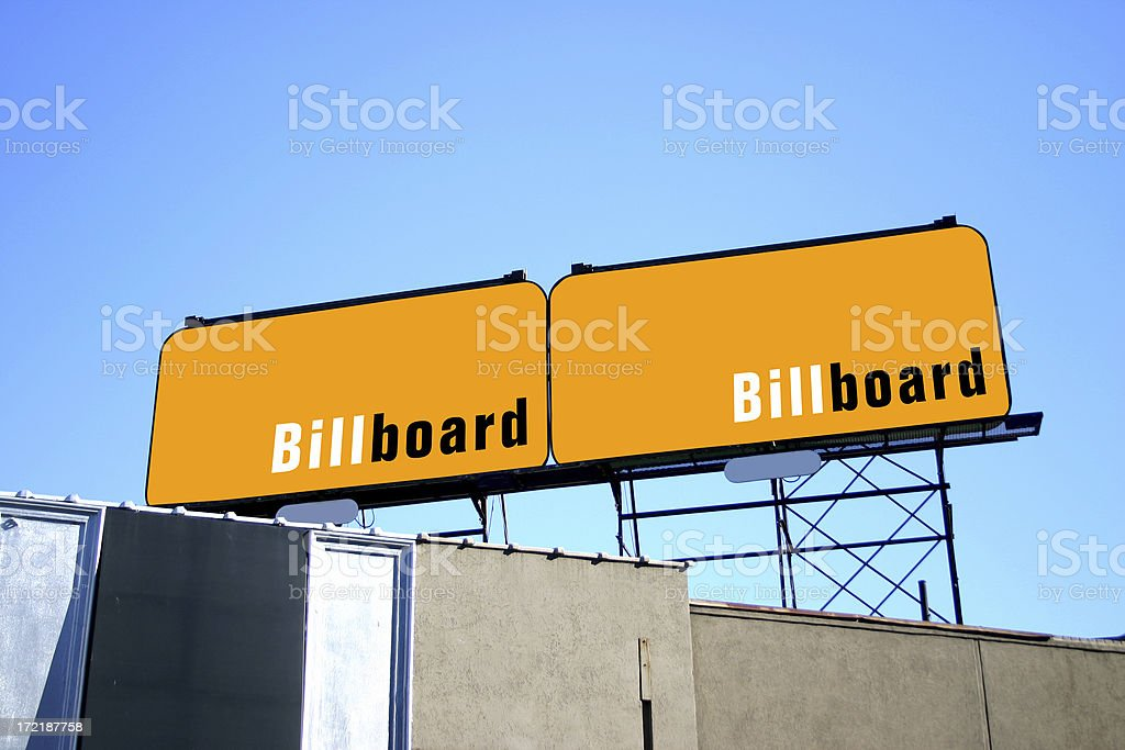 Twin Billboards royalty-free stock photo