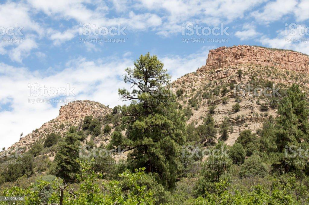 Twin Buttes in Durango, Colorado stock photo