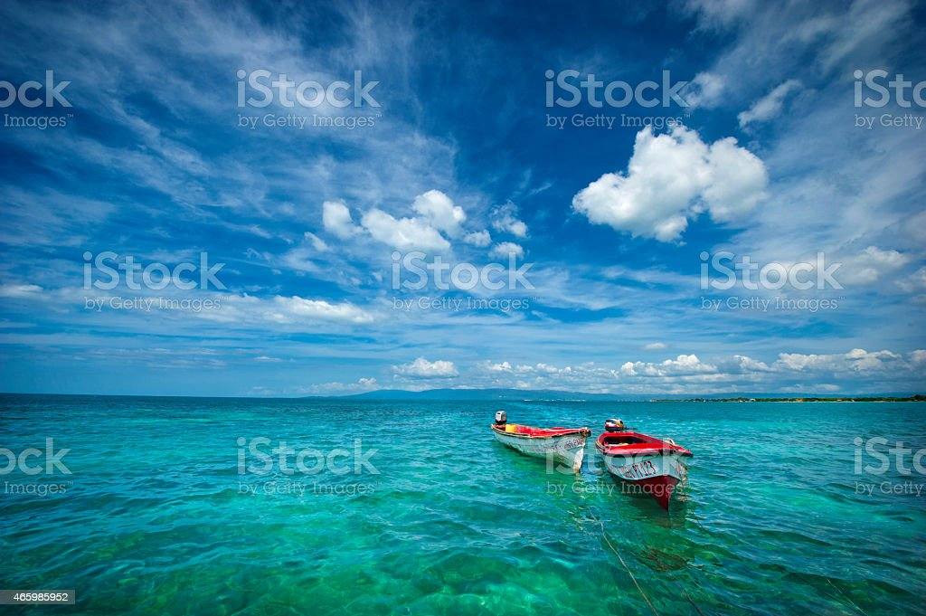 Twin Canoes royalty-free stock photo