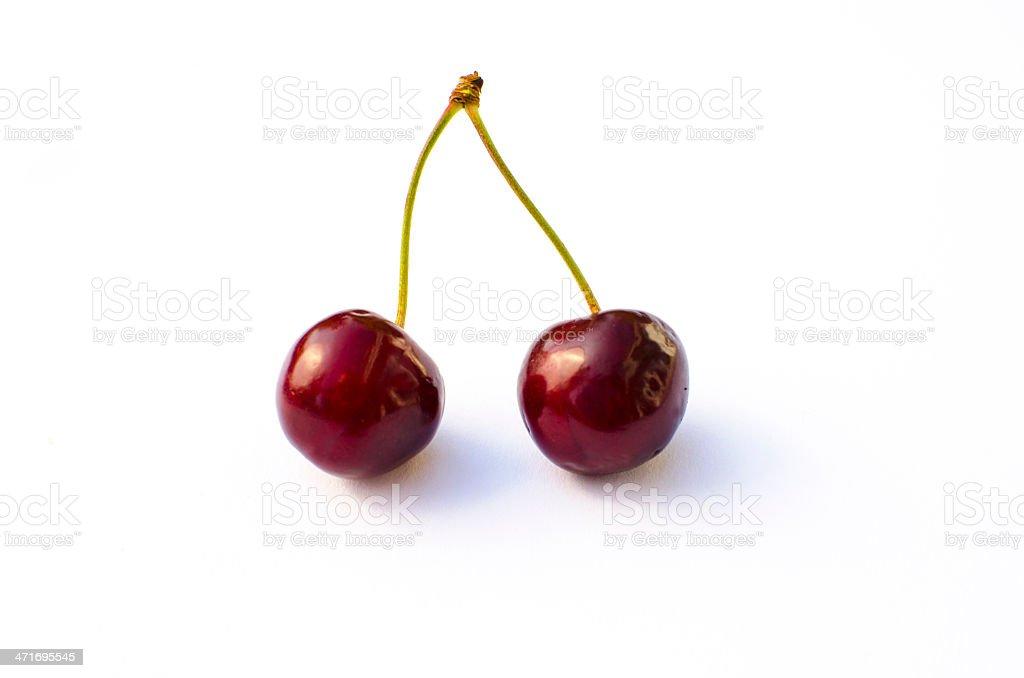 twin cherries royalty-free stock photo