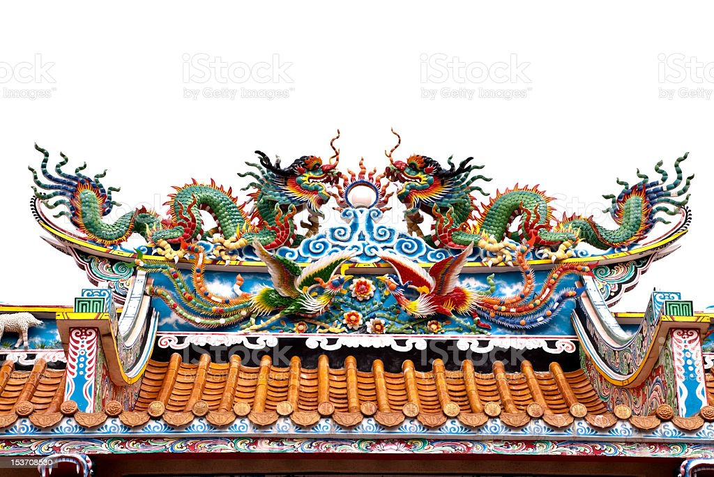 Twin Smok chiński zbiór zdjęć royalty-free