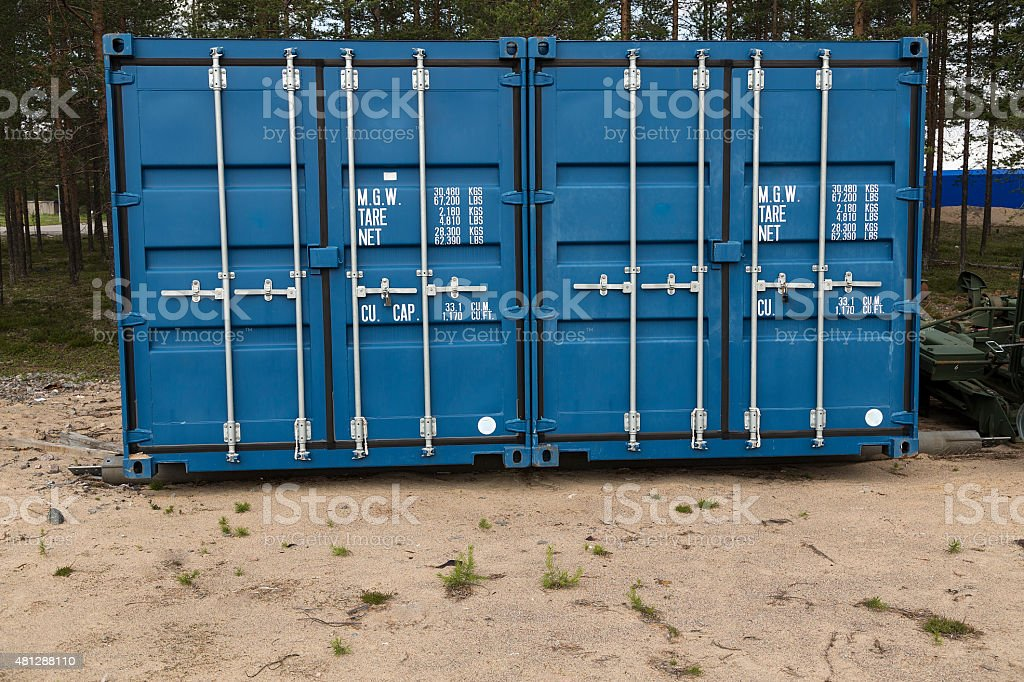 Twin containers royalty-free stock photo
