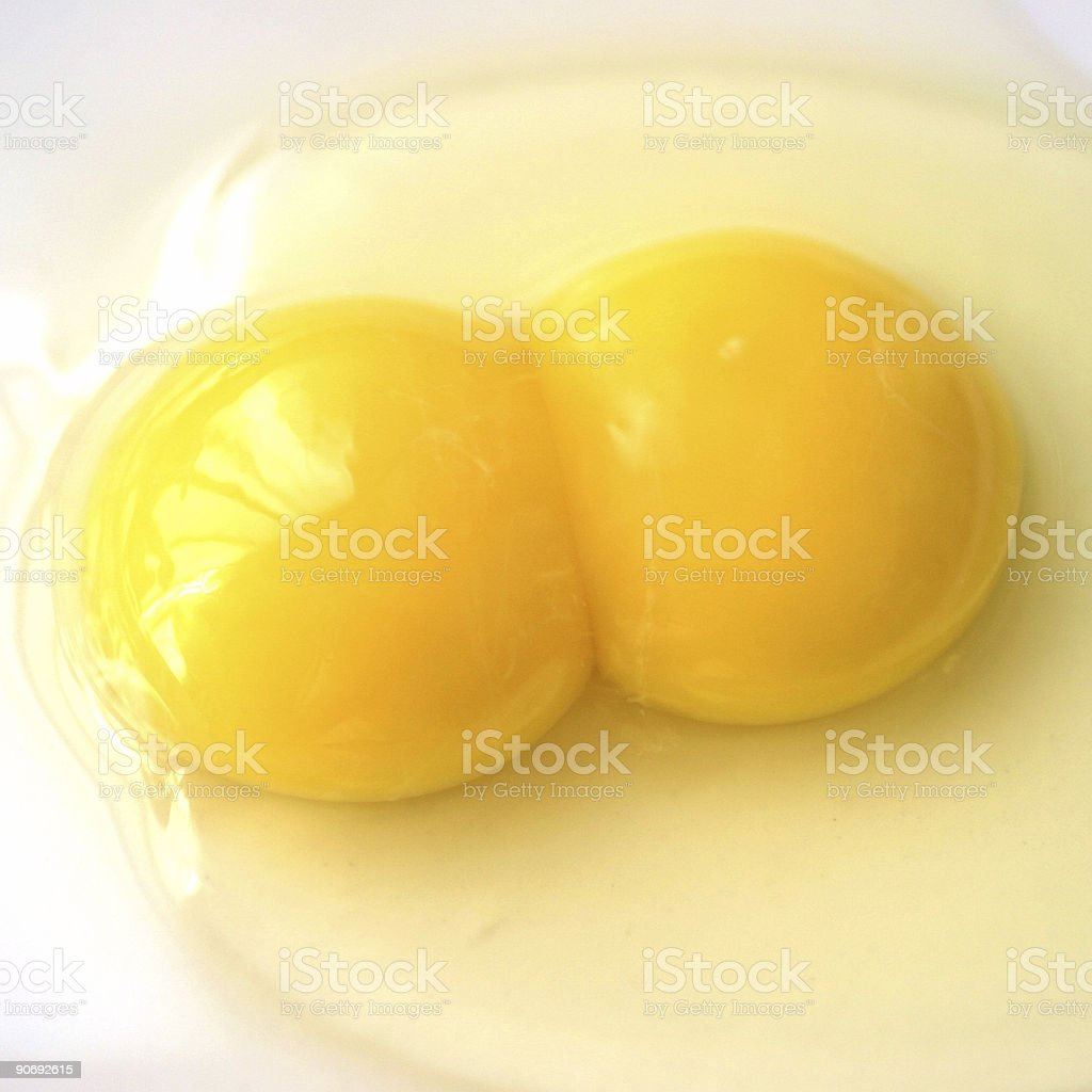 Twin egg yolks royalty-free stock photo