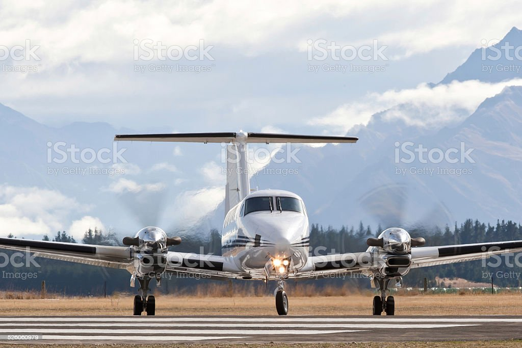 Twin Engine Twin Engined Business Aeroplane stock photo